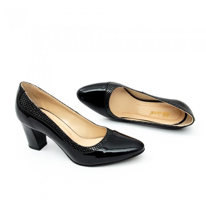 Pantof elegant dama cod 1012 negru lac 1