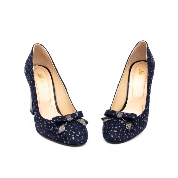 Pantof elegant dama -cod 1110 BGE  bleumarin glitter 4