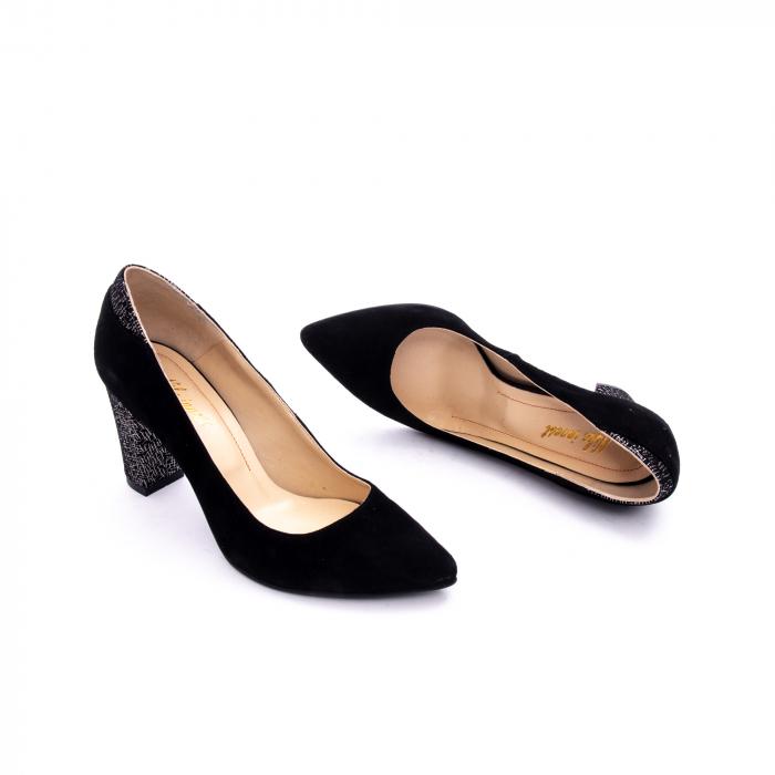 Pantof elegant dama marca Nike Invest 1197 negru velur 2