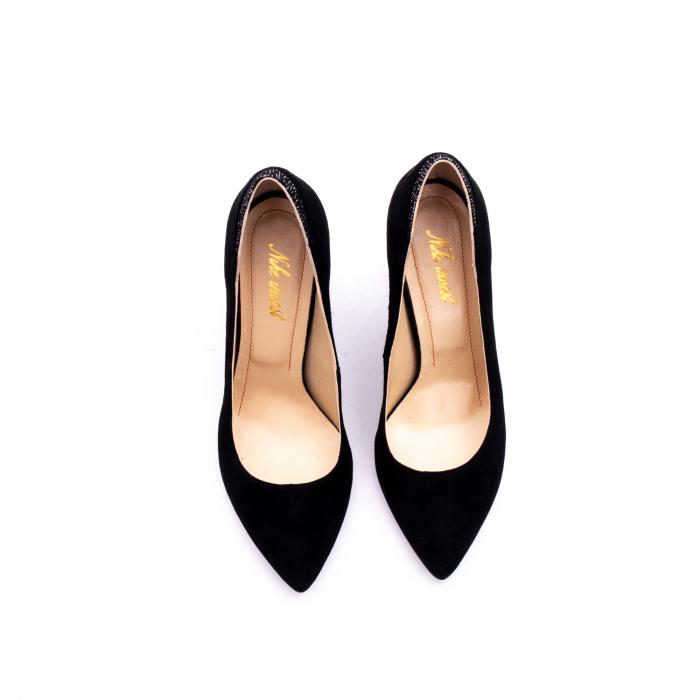 Pantof elegant dama marca Nike Invest 1197 negru velur 5