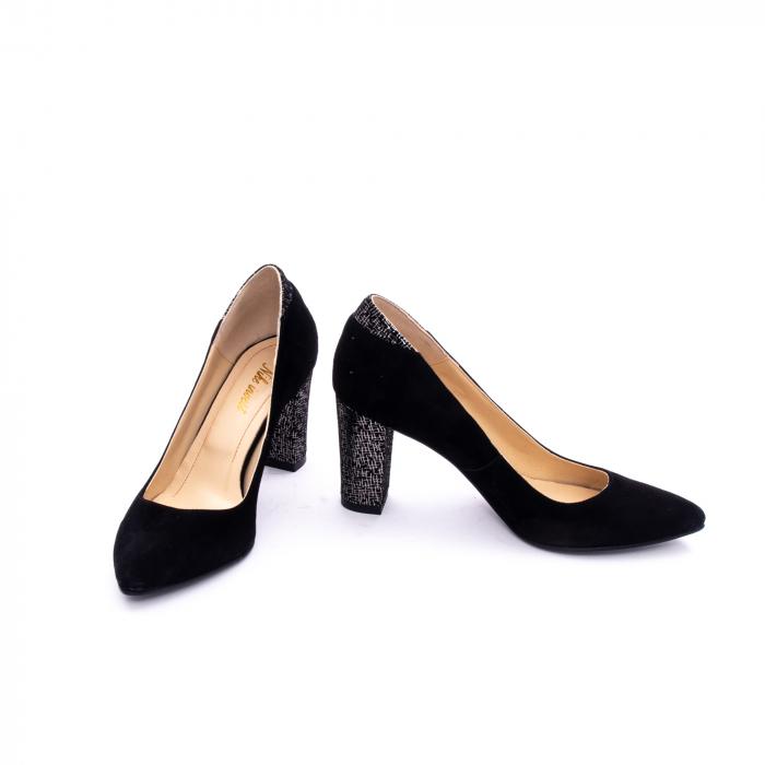 Pantof elegant dama marca Nike Invest 1197 negru velur 3