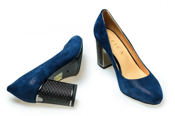Pantof elegant EPICA HM1C1257 bleumarin 2