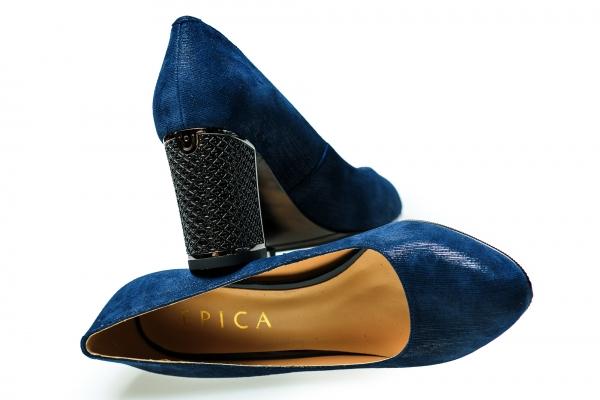 Pantof elegant EPICA HM1C1257 bleumarin 4