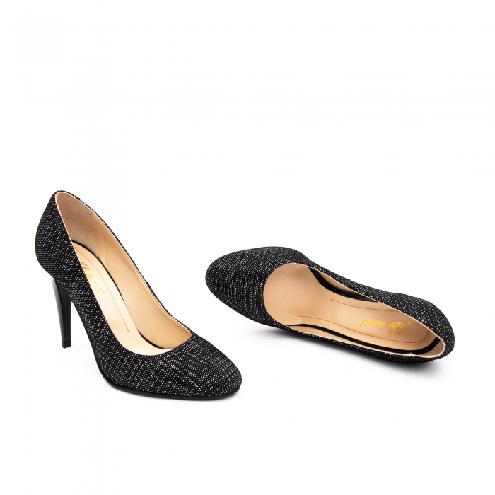 Pantof elegant stiletto -cod 1112 AN negru piper 1