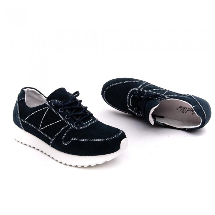 Pantof sport dama -cod F002-91 navy suede 1