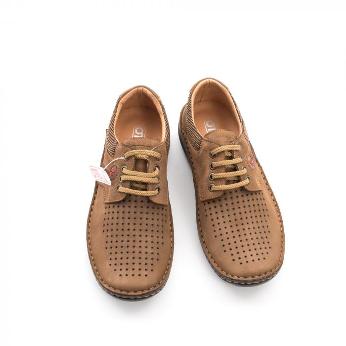Pantofi barbati de vara piele naturala Otter 9560 04-2, coniac 5
