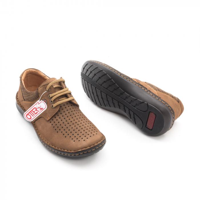 Pantofi barbati de vara piele naturala Otter 9560 04-2, coniac 3