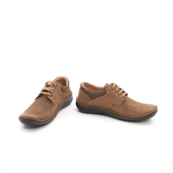 Pantofi barbati de vara piele naturala Otter 9560 04-2, coniac 4