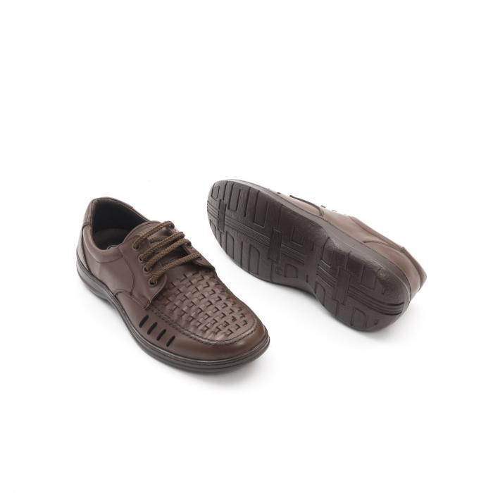 Pantofi barbati vara, piele naturala, Otter 149 C4-N, maro 2