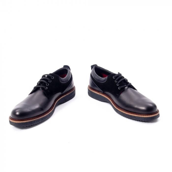 Pantofi barbati casual piele naturala, Otter 020, negru 4