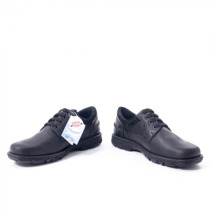 Pantofi barbati casual piele naturala Imac ic402428, negru 4