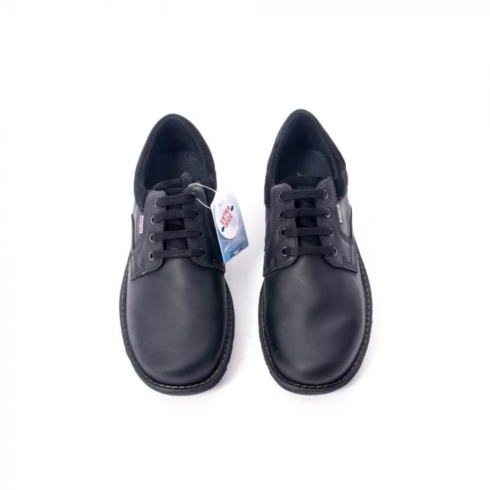 Pantofi barbati casual piele naturala Imac ic402428, negru 5