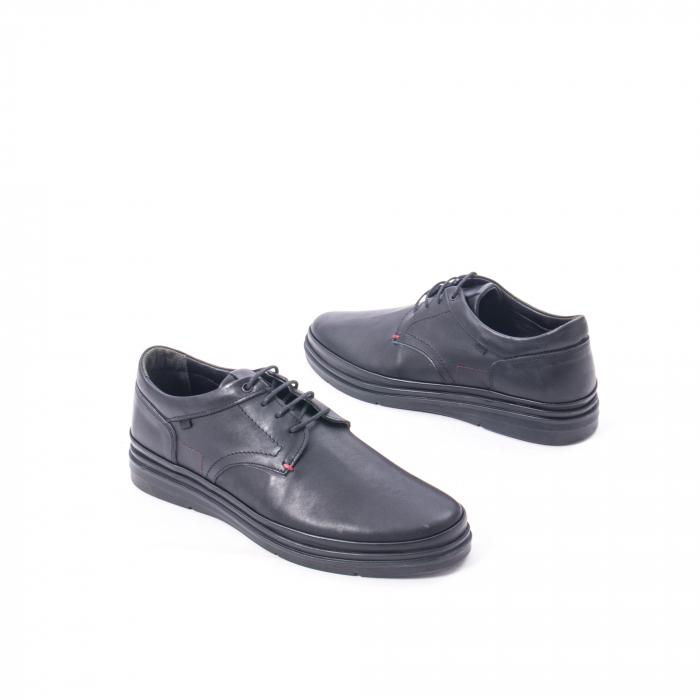 Pantofi casual barbat din piele naturala Otter 5318 negru 2
