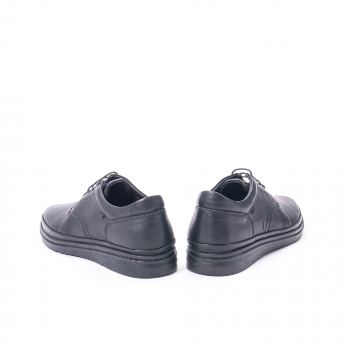 Pantofi casual barbat din piele naturala Otter 5318 negru 6