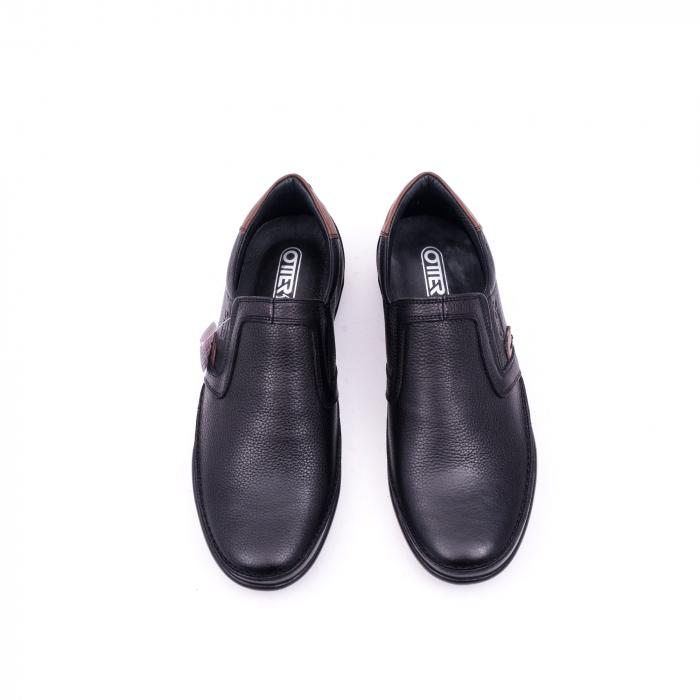 Pantofi barbati casual piele naturala Otter 220, negru 5
