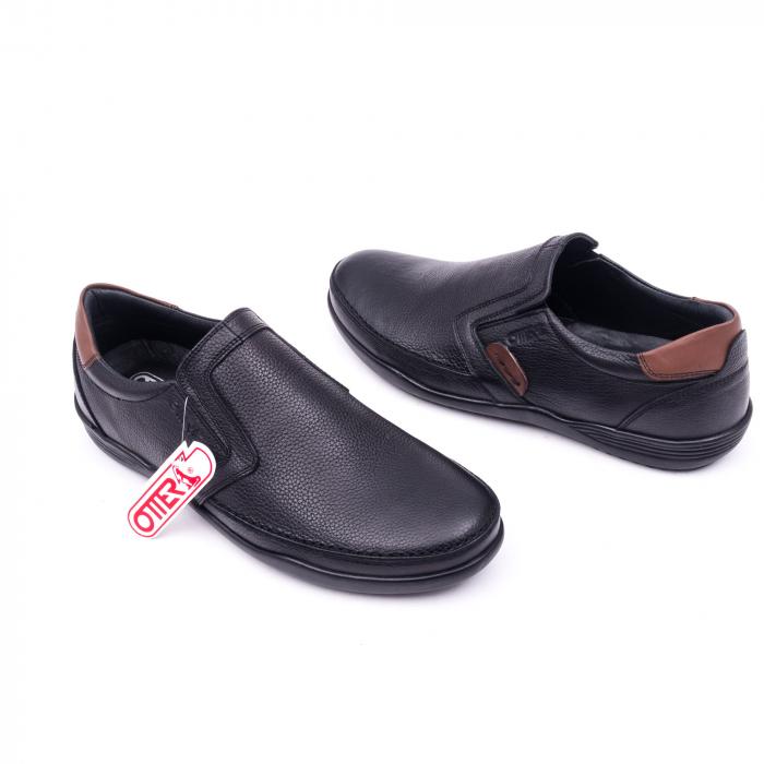 Pantofi barbati casual piele naturala Otter 220, negru 3