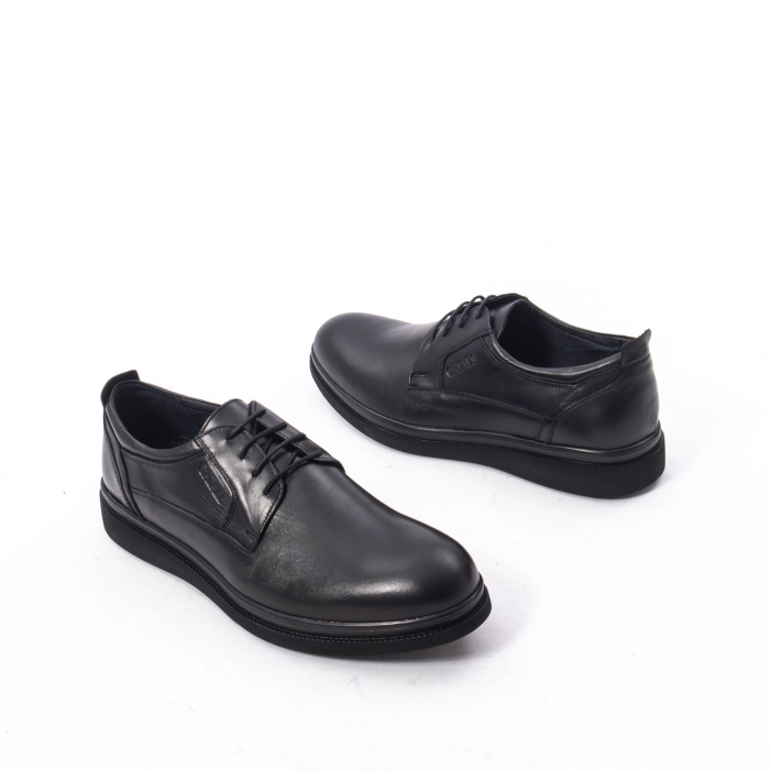 Pantofi casual barbat,piele naturala Catali 172568,negru 2
