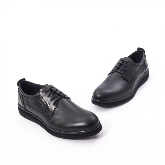Pantofi casual barbat,piele naturala Catali 172568,negru 1