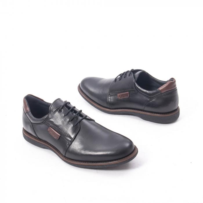 Pantofi casual barbat piele naturala, Catali 182505 negru 2