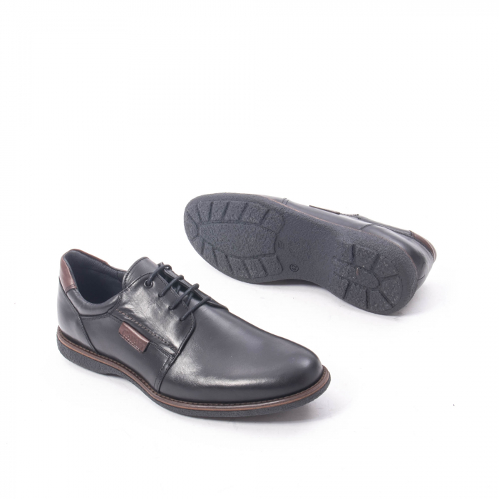 Pantofi casual barbat piele naturala, Catali 182505 negru 3