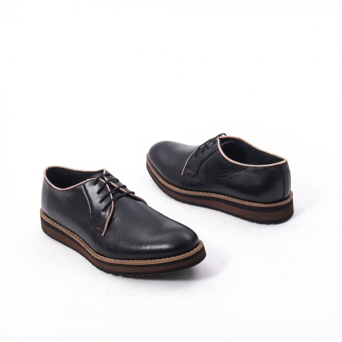 Pantofi casual barbati din piele naturala, Catali 505, negru 2