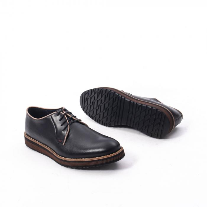 Pantofi casual barbati din piele naturala, Catali 505, negru 3