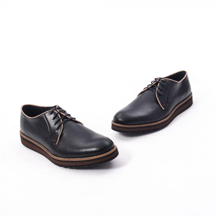 Pantofi casual barbati din piele naturala, Catali 505, negru 1