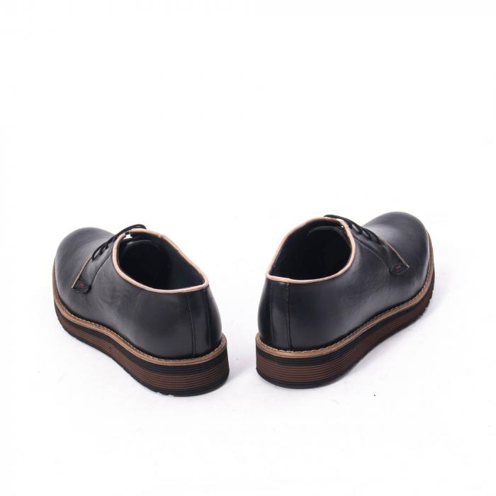 Pantofi casual barbati din piele naturala, Catali 505, negru 6
