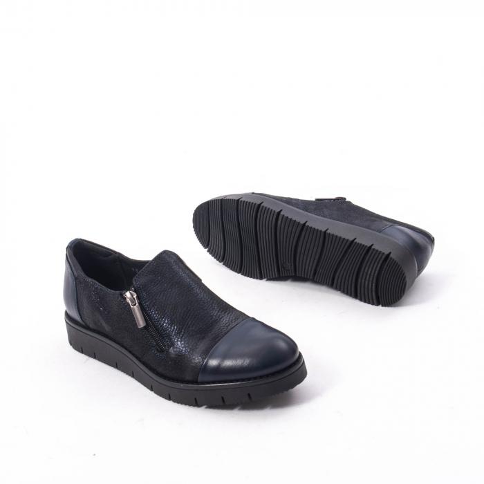 Pantofi casual dama din piele naturala, Catali 182634,bleumarin 3