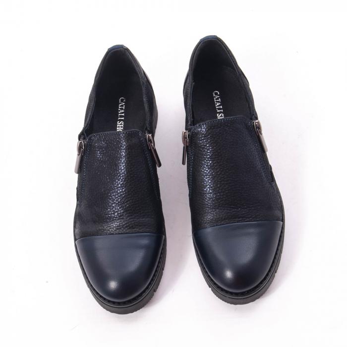 Pantofi casual dama din piele naturala, Catali 182634,bleumarin 5