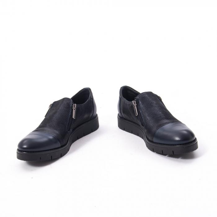 Pantofi casual dama din piele naturala, Catali 182634,bleumarin 6