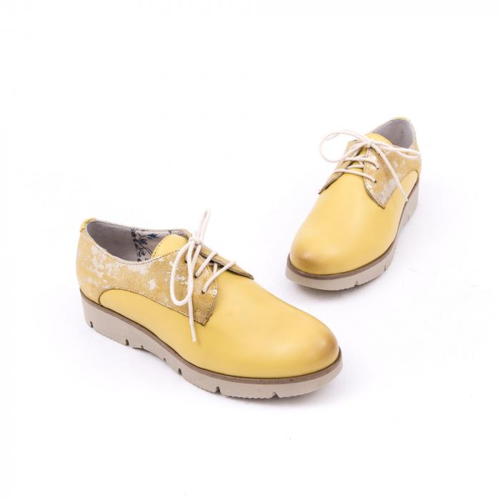 Pantofi casual dama LFX 200 galben auriu