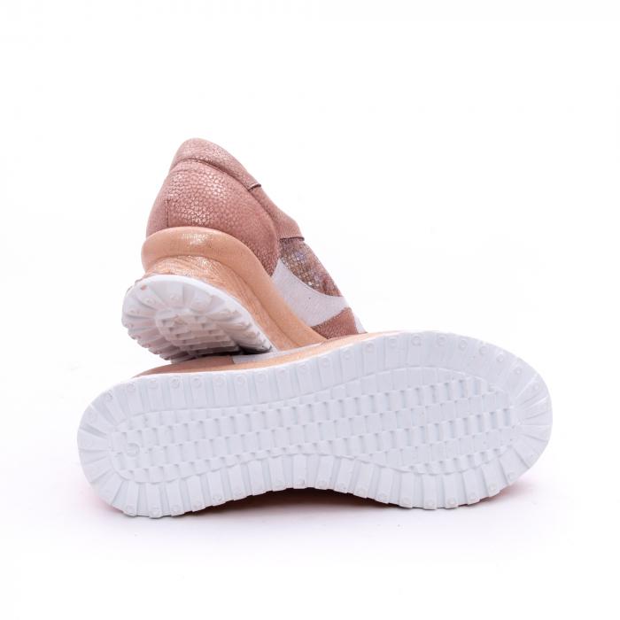 Pantofi casual dama, piele naturala, Nike Invest 1192, roz-argintiu
