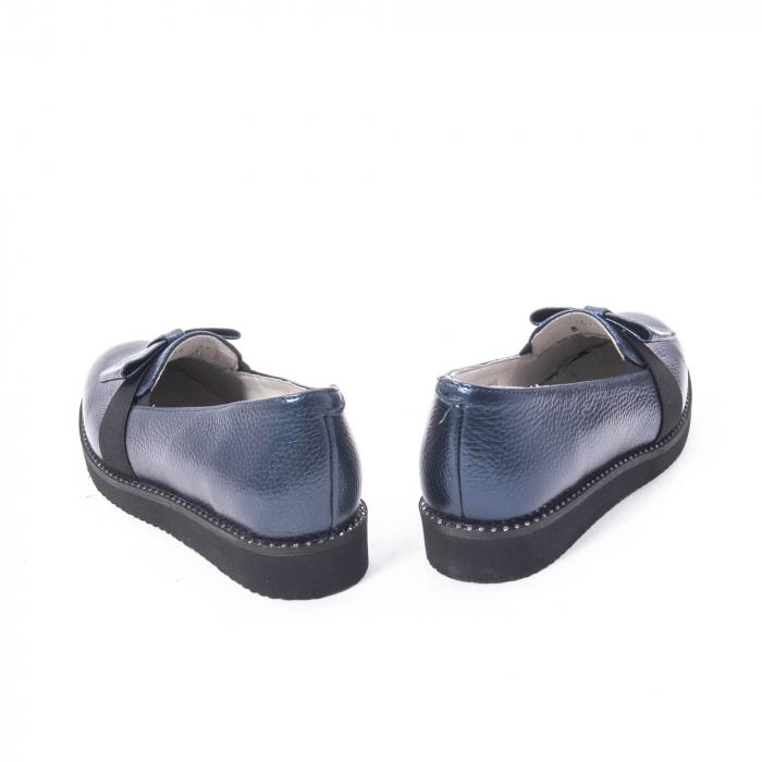 Pantofi casual dama ,piele naturala, Catali 172615 bleumarin 6
