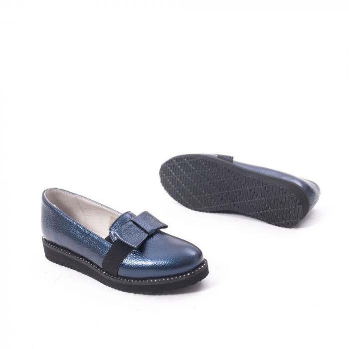 Pantofi casual dama ,piele naturala, Catali 172615 bleumarin 3