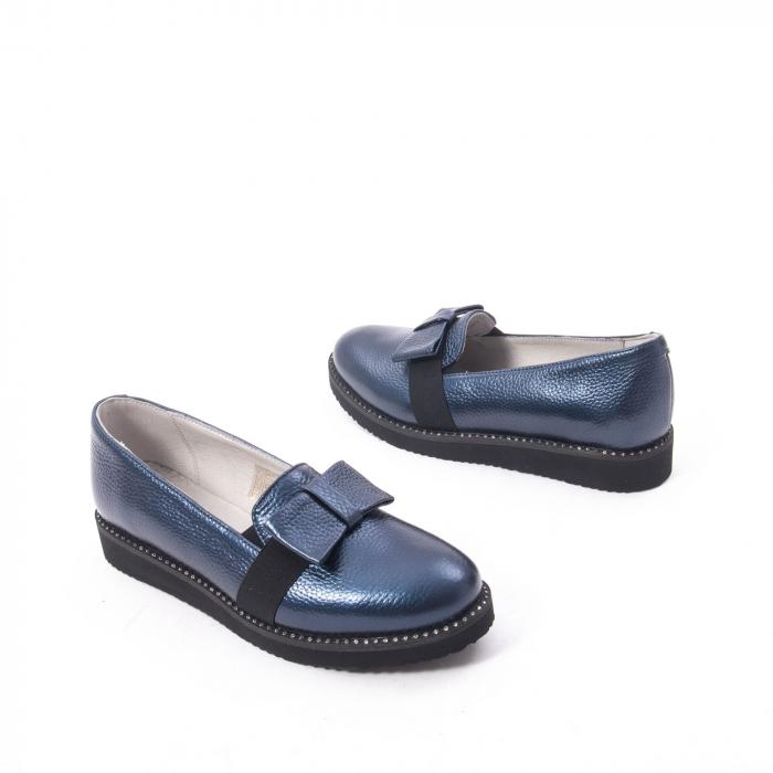 Pantofi casual dama ,piele naturala, Catali 172615 bleumarin 2