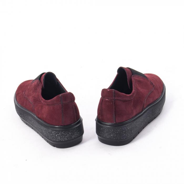 Pantofi casual dama piele naturala Catali 192858, bordo 1