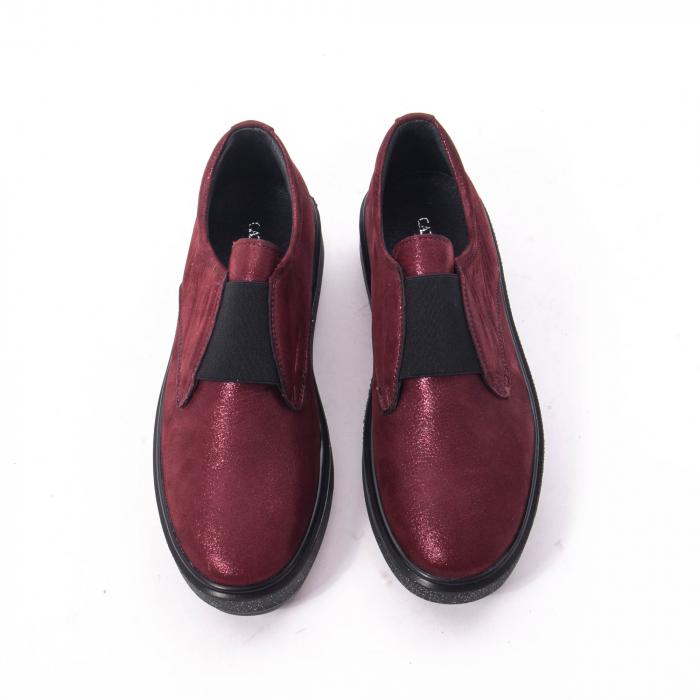 Pantofi casual dama piele naturala Catali 192858, bordo 4