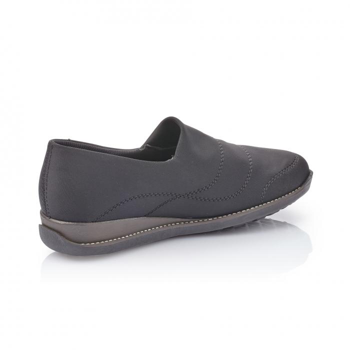 Pantofi casual dama, stretch Rieker 44260, negru 3