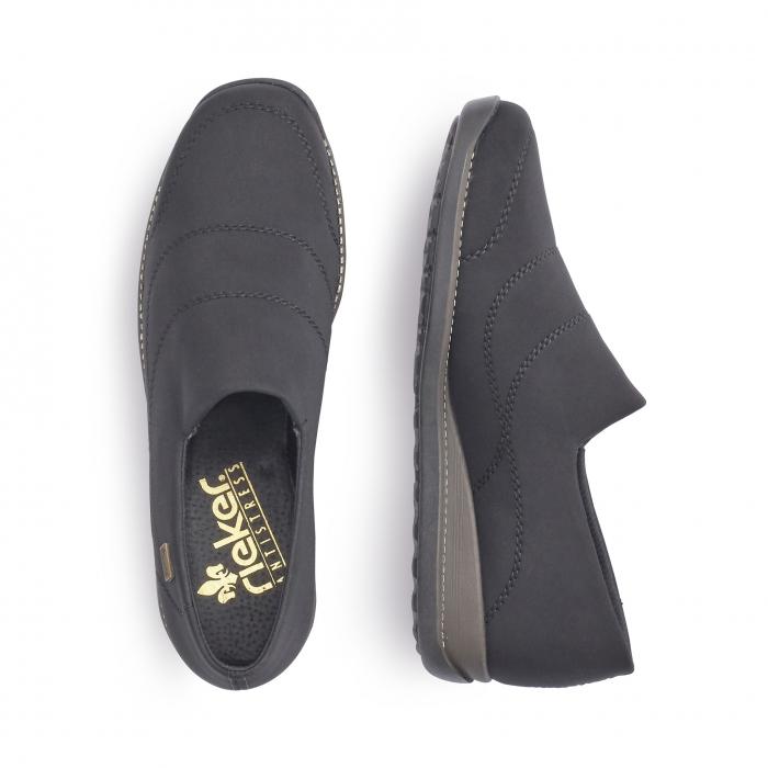 Pantofi casual dama, stretch Rieker 44260, negru 1