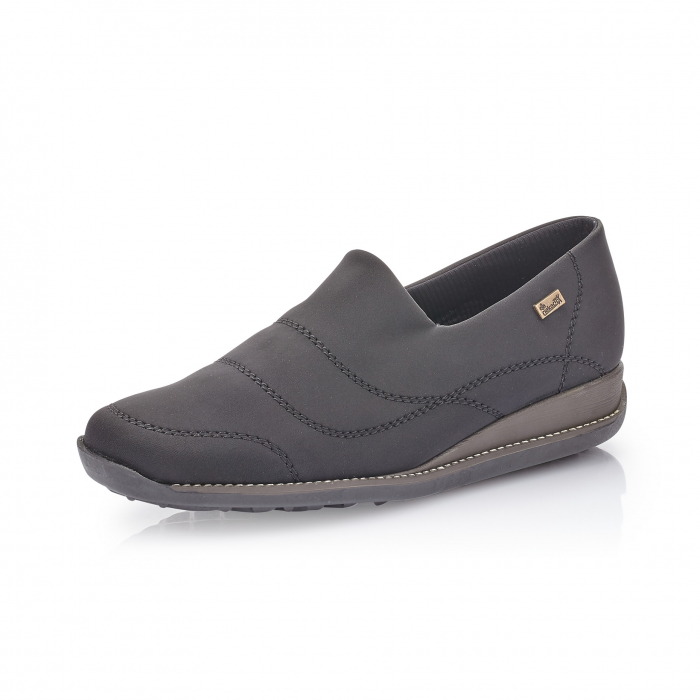 Pantofi casual dama, stretch Rieker 44260, negru 0