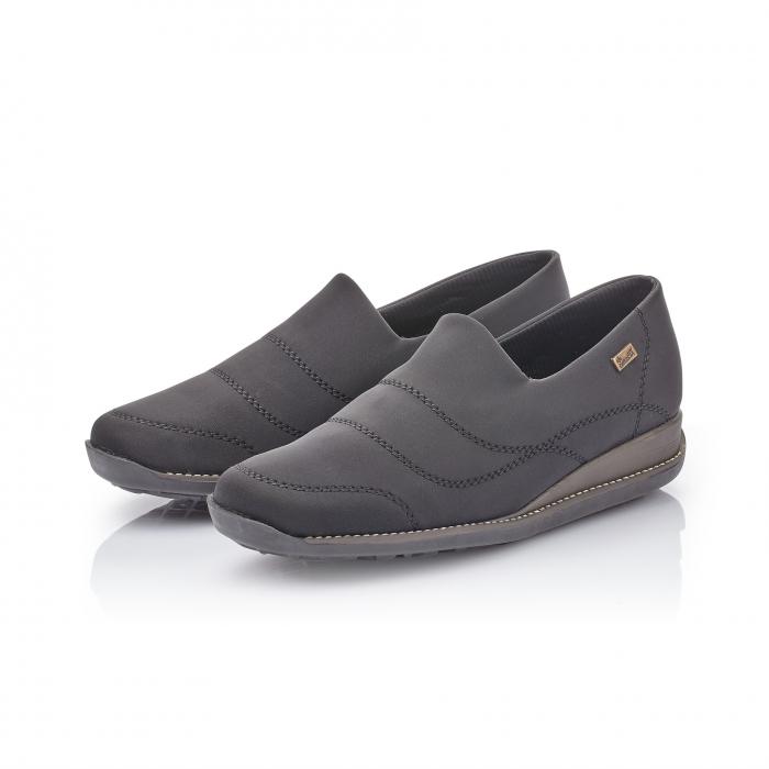 Pantofi casual dama, stretch Rieker 44260, negru 4