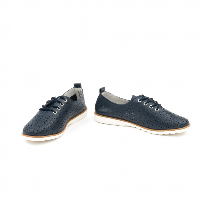 Pantofi casual de vara dama 102 navy 4
