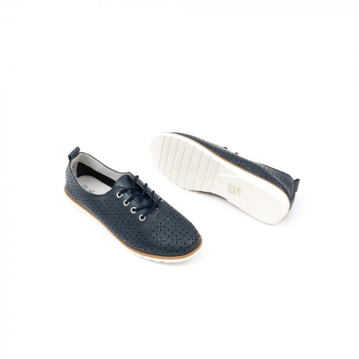 Pantofi casual de vara dama 102 navy 2