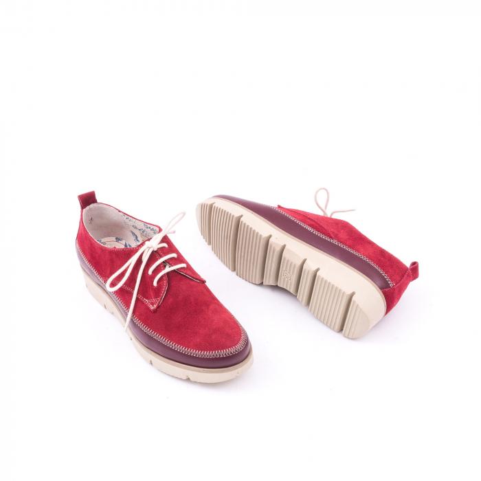 Pantofi casual LFX 198 visiniu velur.