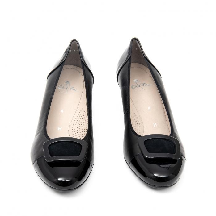 Pantofi dama eleganti piele naturala Ara 3585, Negru 5