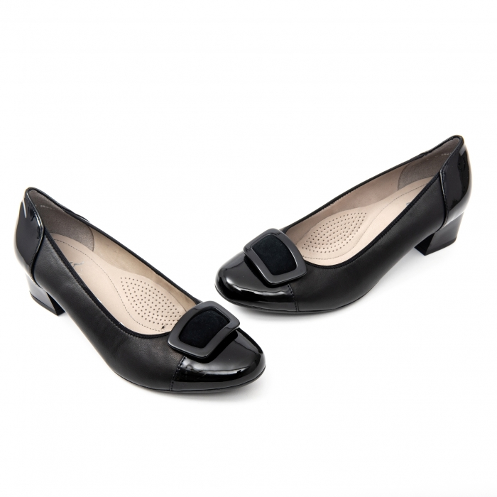 Pantofi dama eleganti piele naturala Ara 3585, Negru 2