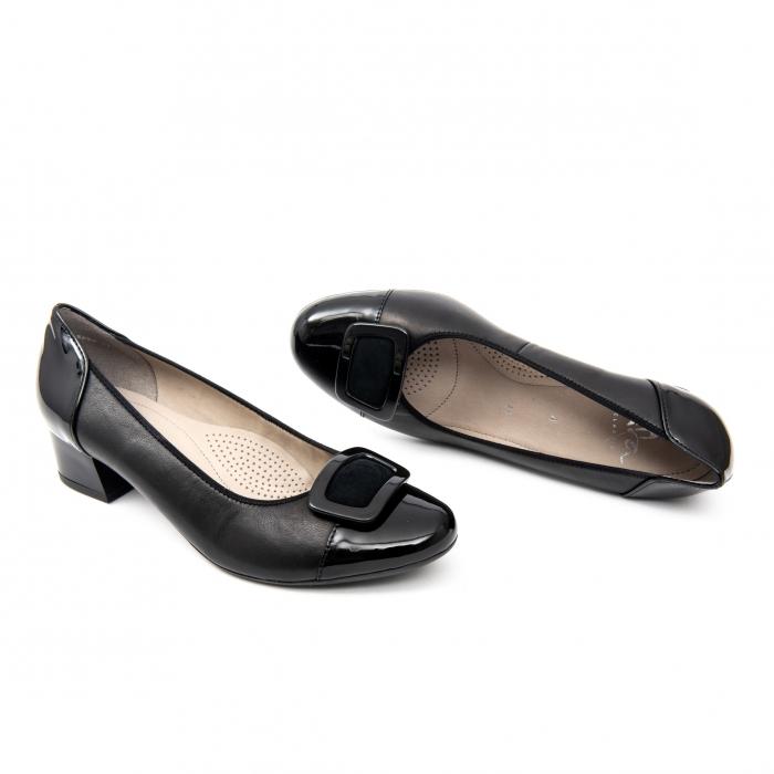Pantofi dama eleganti piele naturala Ara 3585, Negru 1