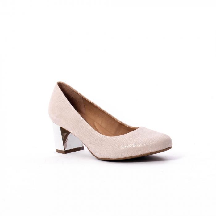 Pantofi dama eleganti piele naturala Epica oe7122, nude