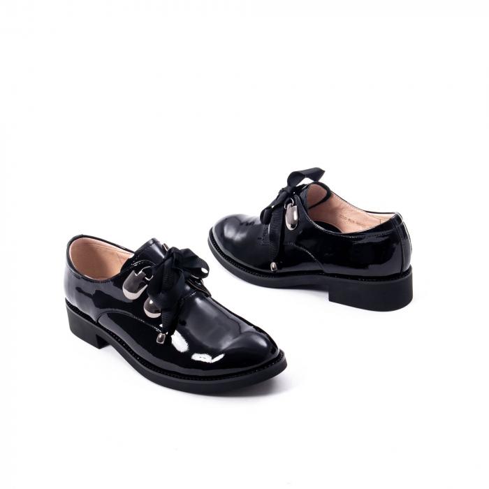 Pantofi casual dama din piele naturala Epica jixs320-01,negru lac 3
